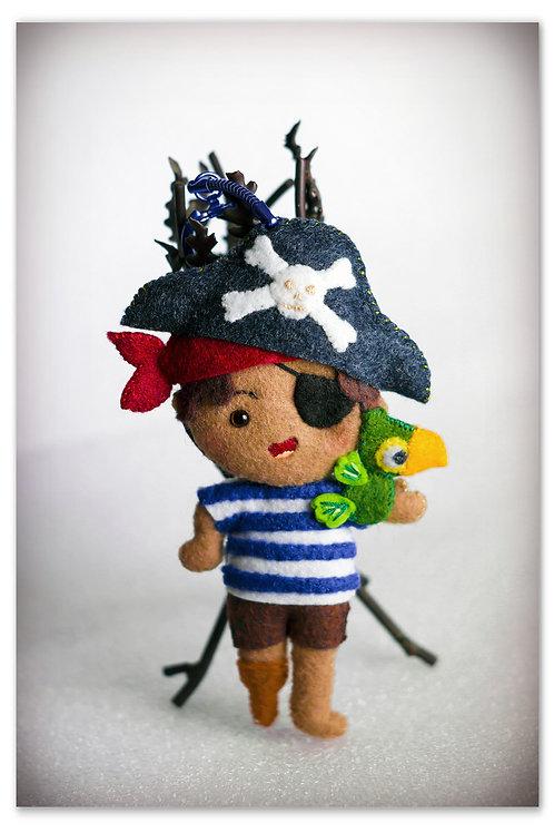 """Porte-clefs """"Jim le Pirate des caraïbes"""""""