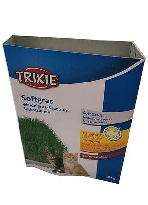 Herbe a chat , a faire pousser avec barquettes Trixie