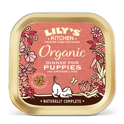 Lily's Kitchen - Barquette Recette Bio pour Chiots 150g