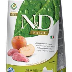 CROQUETTE N&D SANGLIER ET POMME SANS CEREALES MINI ADULTE FARMINA 2.5KG