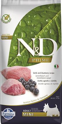 FARMINA N&D GRAIN FREE  AGNEAU & MYRTILLE ADULTE MINI 2.5KFARMINA