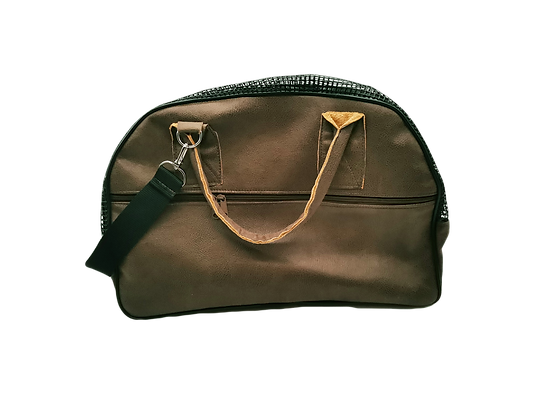 SAC DE TRANSPORT CUIR SOUPLE MARRON FONCE NORME AVION CABINE  PIECE UNI
