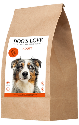 DOG'S LOVE CROQUETTES CHIEN   BOEUF 2kg