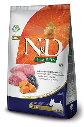 CROQUETTES  N&D GRAIN FREE POTIRON AGNEAU & MYRTILLE ADULTE MINI 2.5 KG