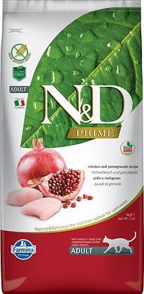 N&D CROQUETTES POULET GRENADE  ADULTE CHATS 1.5KG FARMINA