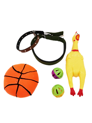 LOT  2 COLLIERS , 4 JOUETS GRAND CHIEN PROMOTION