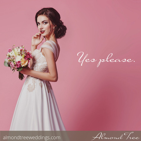 Pretty in Pink Bride with Flower Bouquet