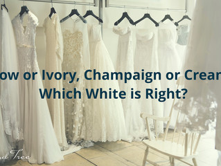 Snow, ivory, or cream … which white is right for your wedding dress?