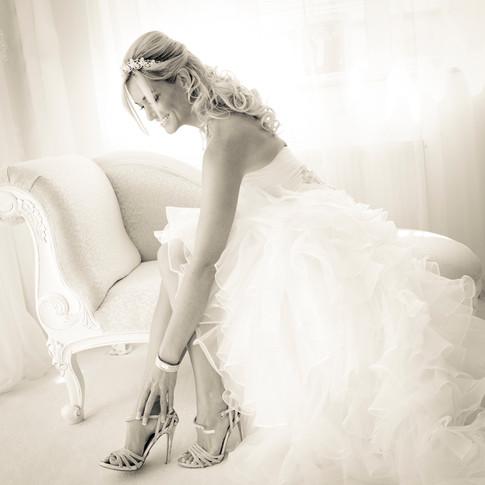 Sexy Bride Feeling Beautiful
