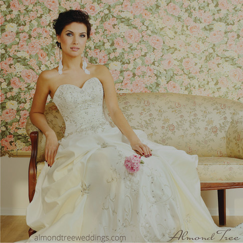 Sweetheart in Diamonds and Lace Bride Wedding