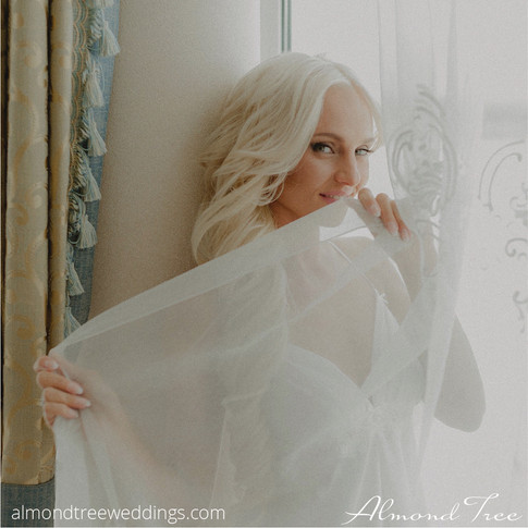 Playful Tease - Bride Hides in Lace
