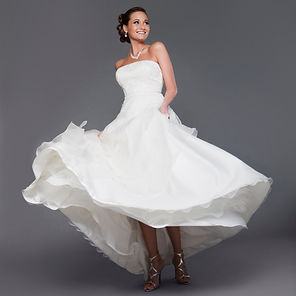 Bride Dress Happy Beautiful Dance White