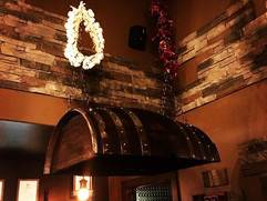 Hand Made lighting made out of wine barrels