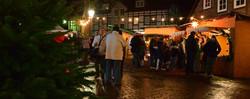 Weihnachtsmarkt-Szene