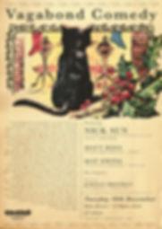 Vagabond Comedy Night Poster 2 - December - Christmas - Gwdihw - Cardiff - Jordan Brookes - Nick Sun - Matt Rees - Mat Ewins