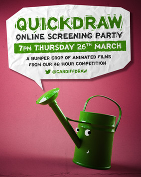 25 new animated shorts created in 48 hours as part of Cardiff QuickDraw animation jam!