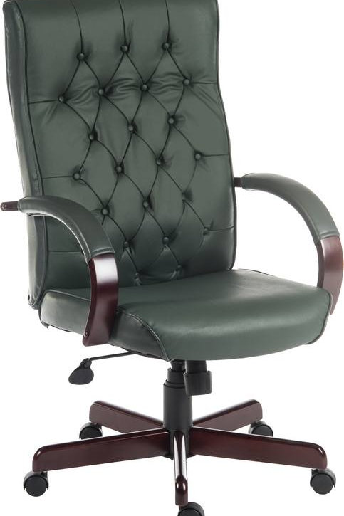 Warwick Executive with wooden base in Green