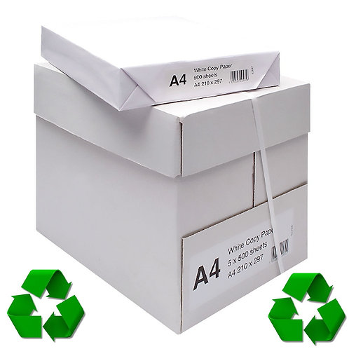 100% Recycled A4 Copier Paper (2500 Sheets)