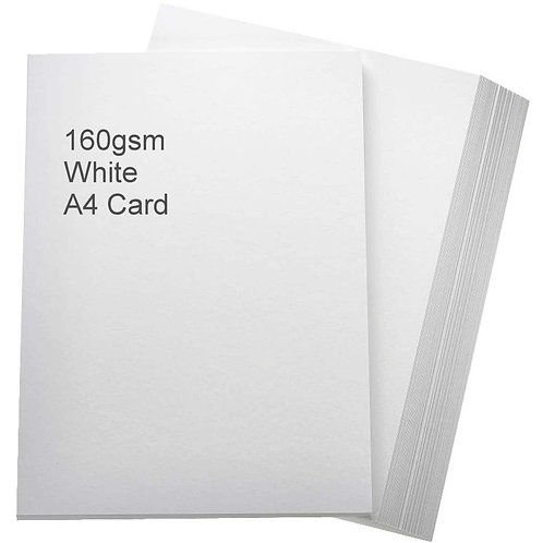 White Card 160gsm (250 sheets)
