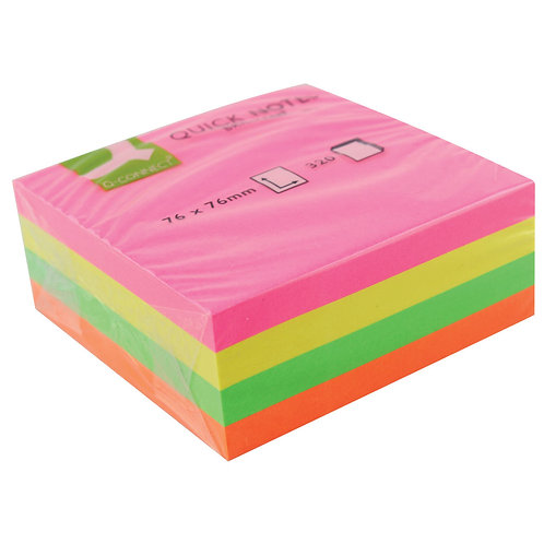 Value 76x76mm Repositionable cube Neon