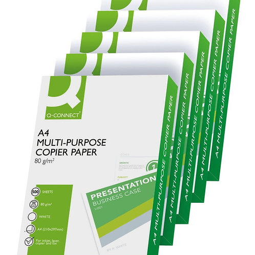 Multipurpose 80g Paper White (5 Reams)