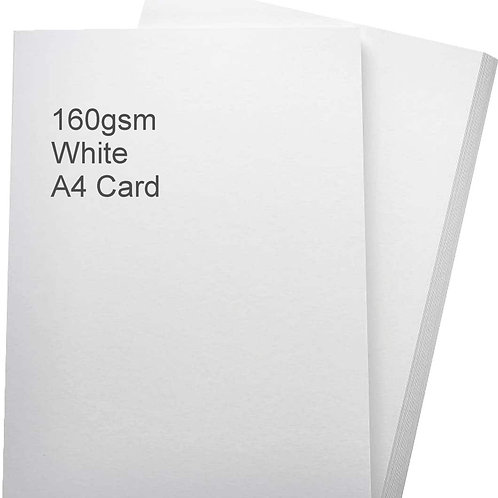 White Card 160gsm (50 sheets)