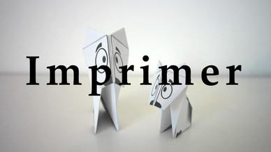 Origami chien à imprimer