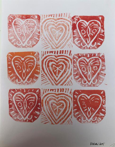 Repeating hearts