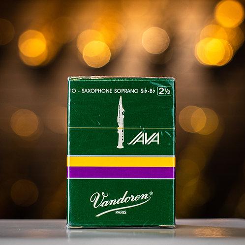 Vandoren Java Green Soprano Saxophone Size 2.5 Reeds