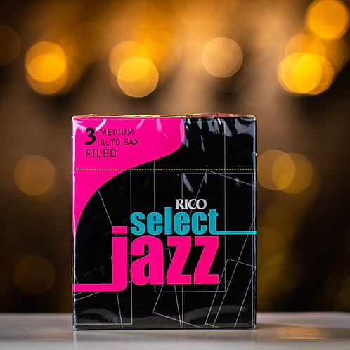 Rico Select Jazz Alto Saxophone Filed 3M Reeds