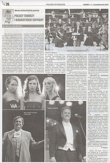Featured in Polish Newspaper Goniec
