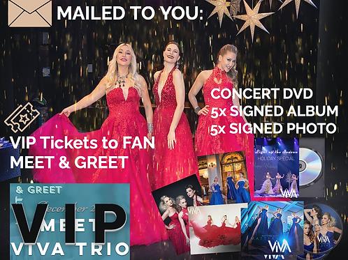 $200 Tip + VIP GUEST at MEET&GREET + CONCERT DVD + 5 ALBUMS + 5 PHOTOS