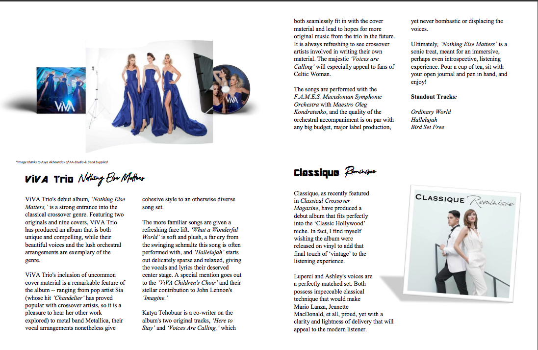 ViVA Trio Classical Crossover Magazine