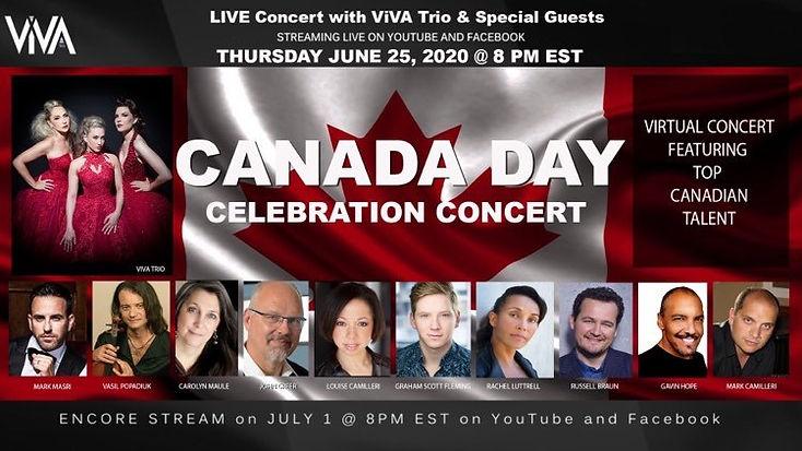 Canada Day Concert ViVA Trio Gavin Hope