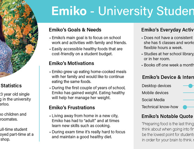 User Persona - Emiko - University Studen