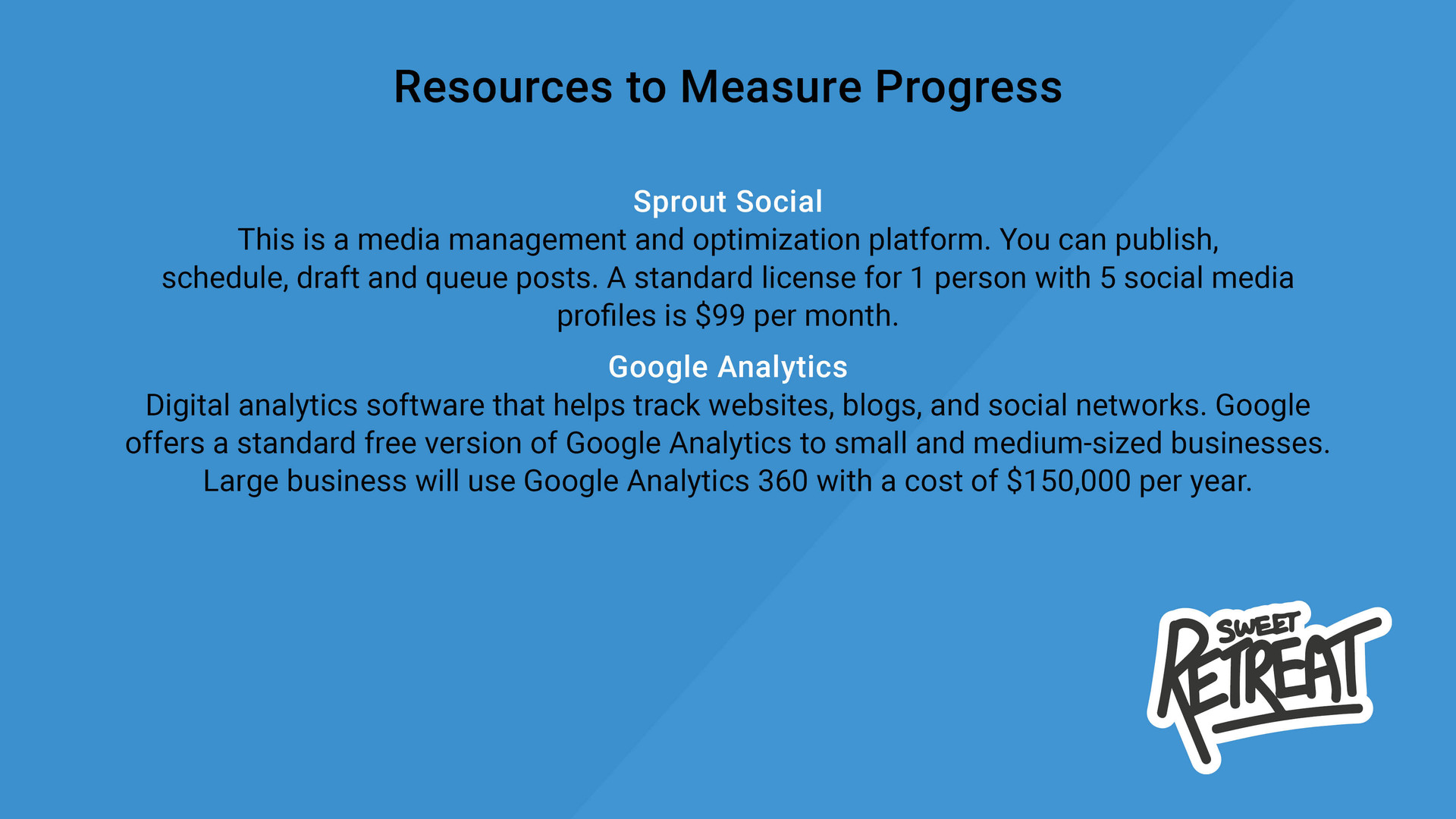Resources to Measure Progress