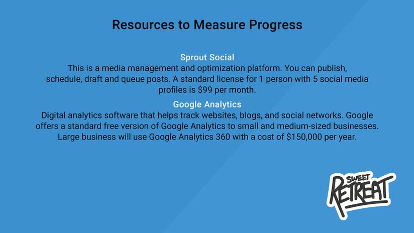 Resources to Measure Progress