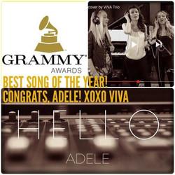Adele's Hello wins a Grammy!