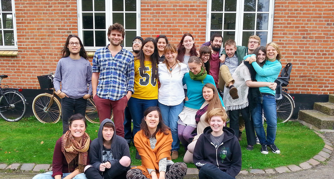 Barbara Slade with the students from one of her screenwriting workshops