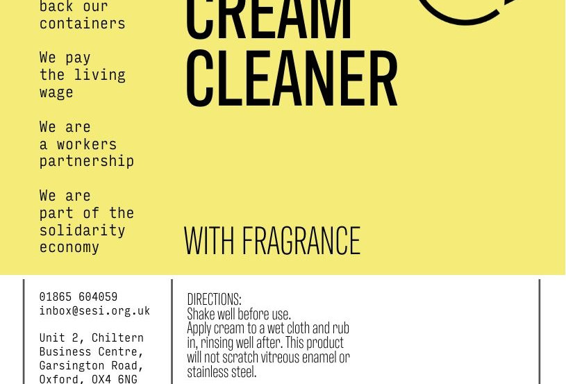 Cream cleaner with fragrance