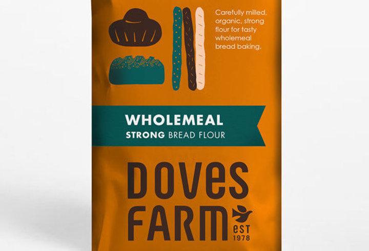 Organic strong wholemeal bread flour
