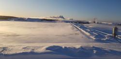 Scandinavian mine site in winter