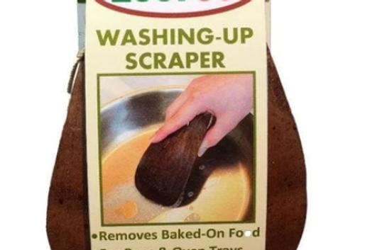 Washing up scraper (coconut husk)
