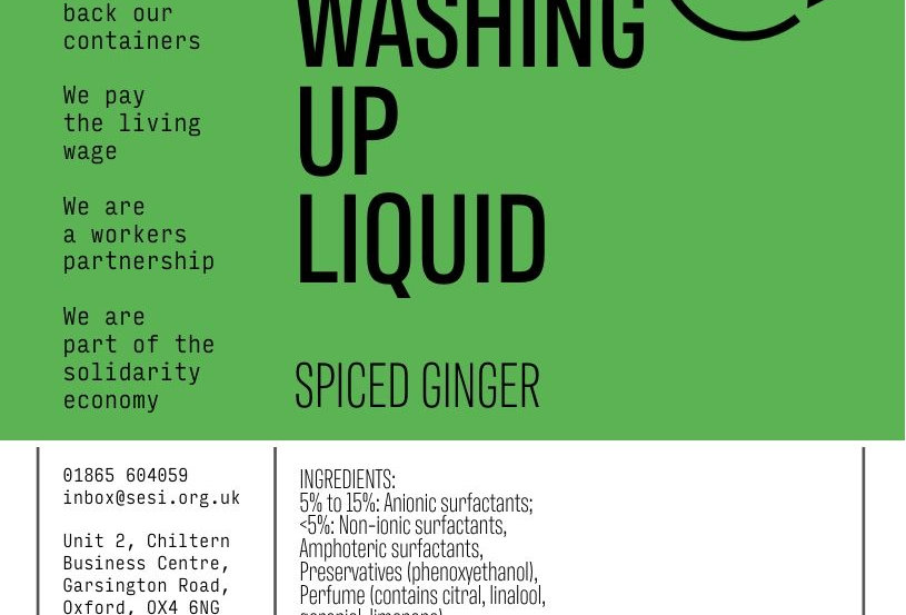 Washing up liquid spiced ginger