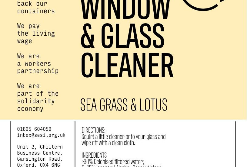 Window & glass cleaner (sea grass & lotus)