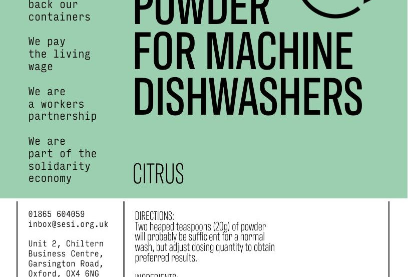 Powder for machine dishwashers (citrus)