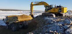 Mining in sub zero temperatures