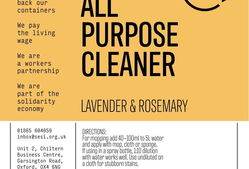 All purpose cleaner (lavender & rosemary)