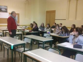 Rencontre des élèves de Littérature et Société avec le journaliste et réalisateur Yves Garric autour