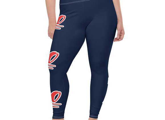 All-Over Print Plus Size Leggings (KEEP IT REAL)